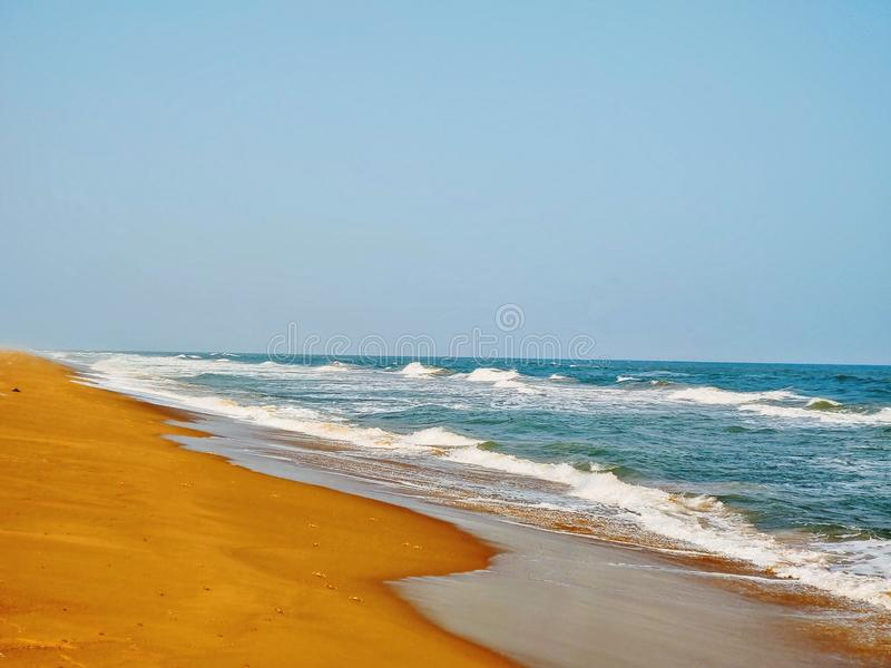 Odisha Индия puri пляжа Chandrabhaga стоковое изображение
