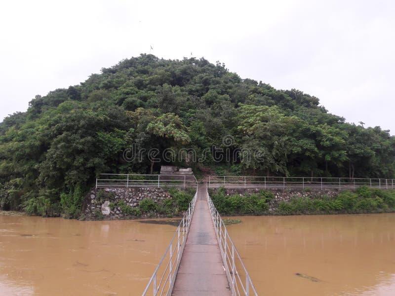 Odisha för sambalpur för chipilima för Ghanteswari tempelkulle fotografering för bildbyråer