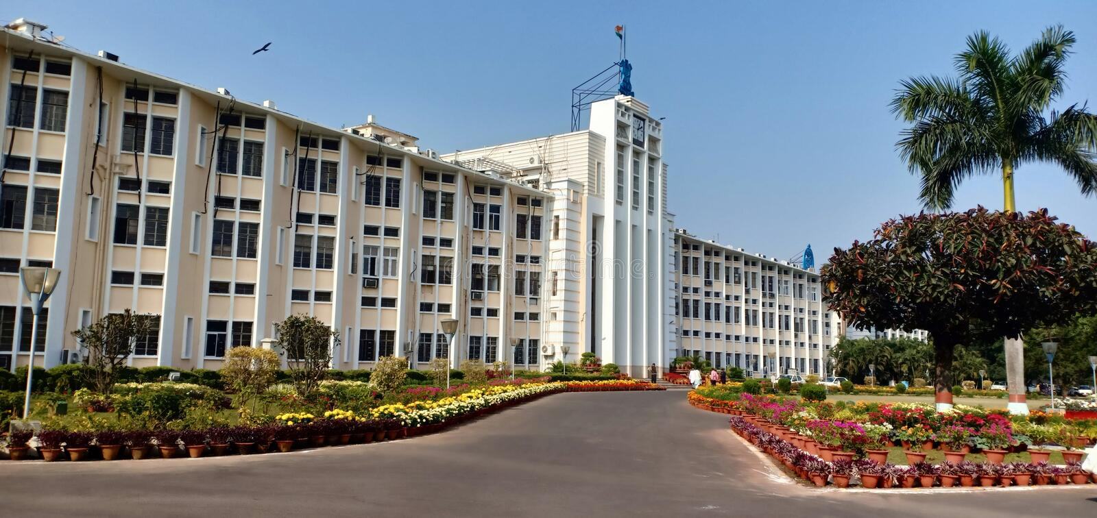 Odisha Sachibalaya main building Bhubaneswar India. Entrance for Chip Minister and VIP persons stock photo