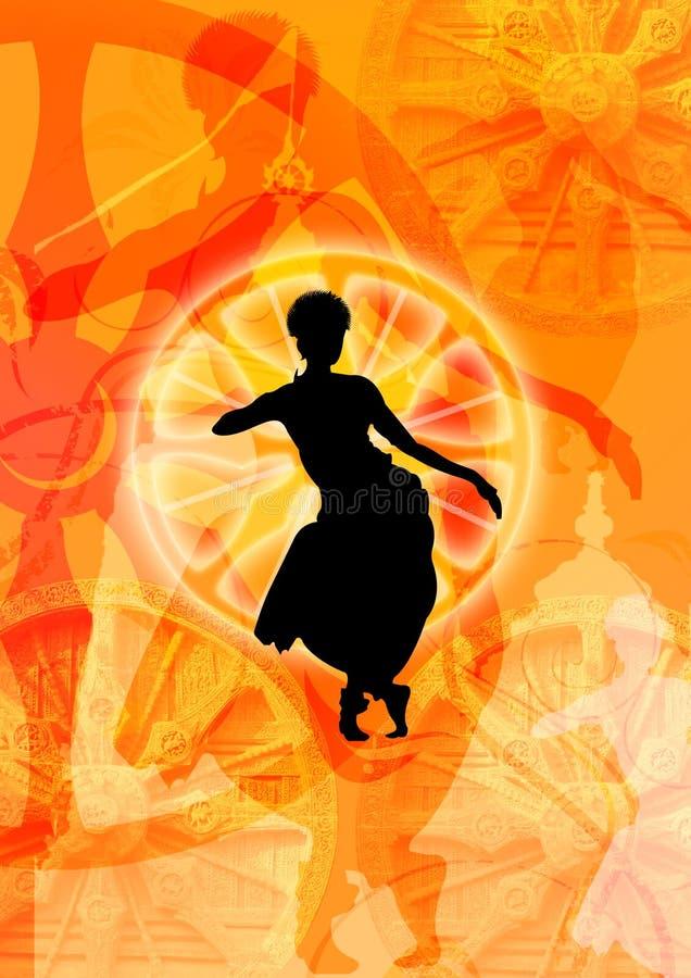 Odissi Tanzformular und -räder stock abbildung