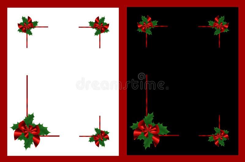 odizolowywać Boże Narodzenie ramy royalty ilustracja
