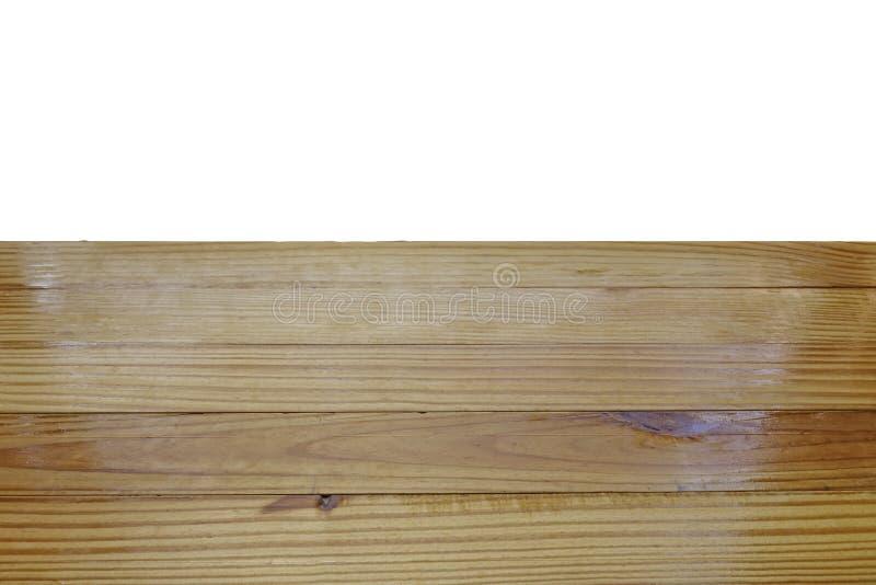 Odizolowywa, drewniany stół z ścinek ścieżką zdjęcia royalty free