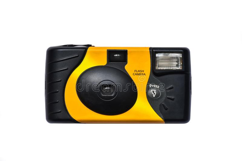 Odizolowywa fotografię 35 mm filmu kamery masy segment na białej tło technologii obraz stock