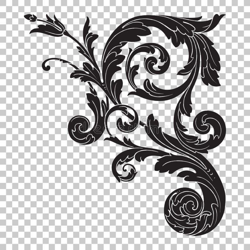 Odizolowywa narożnikowego ornament ilustracja wektor