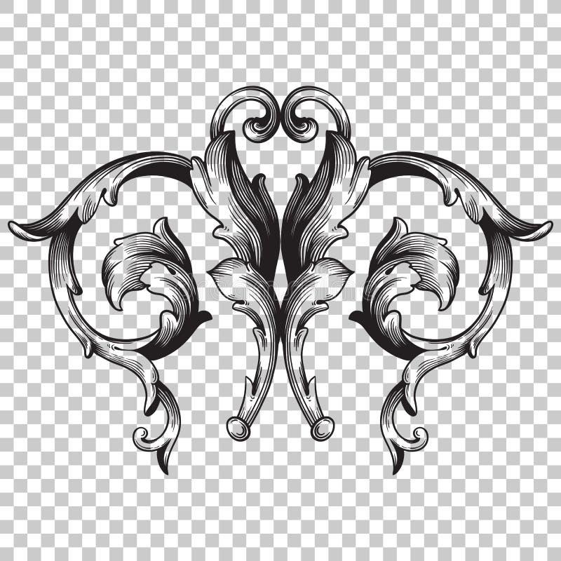 Odizolowywa ornament w baroku stylu royalty ilustracja