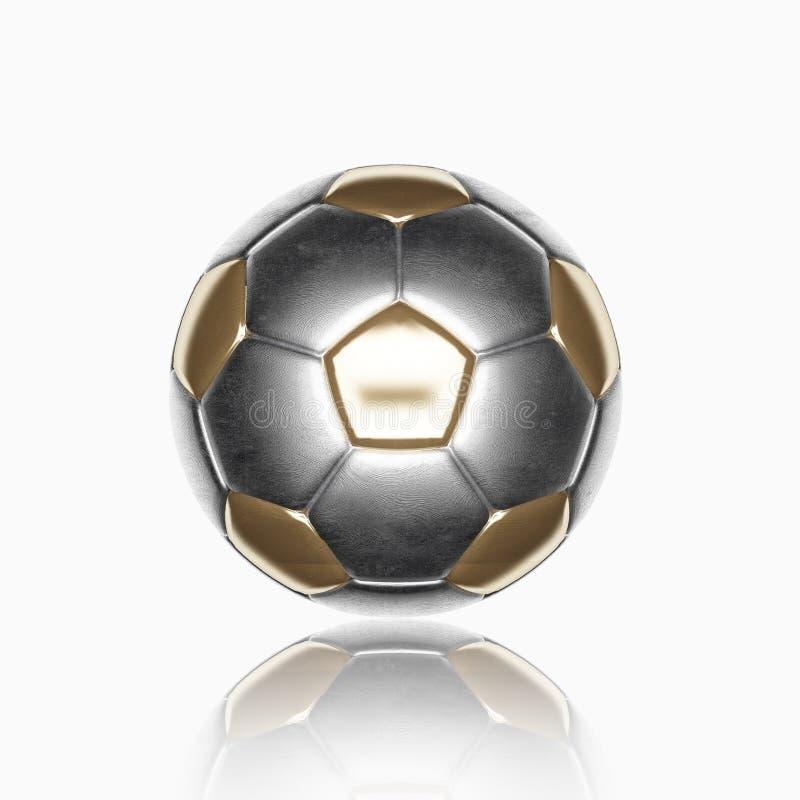 Odizolowywa piłki nożnej piłkę obraz royalty free