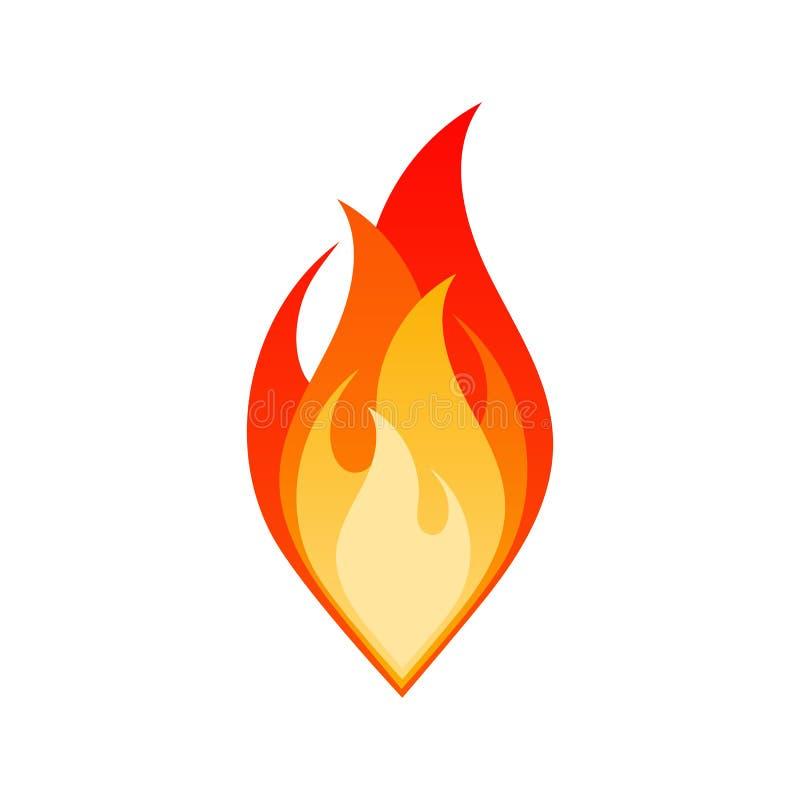 Odizolowywa pożarniczego płomienia ogniska niebezpiecznego emblemat ilustracji