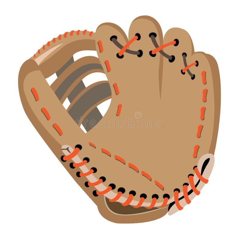 odizolowywająca baseball rękawiczka royalty ilustracja