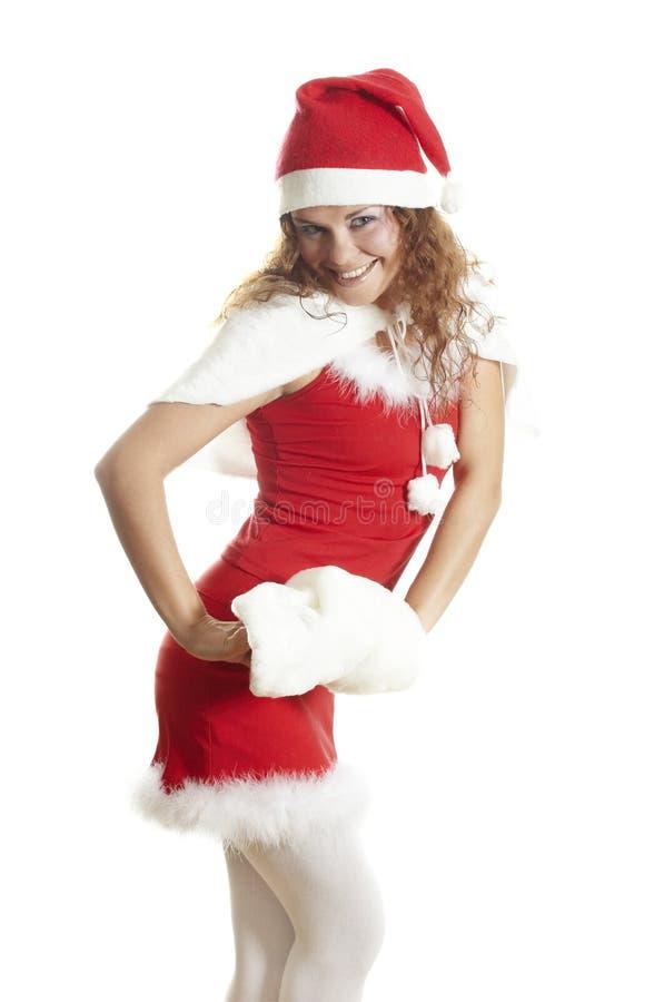 odizolowywająca Boże Narodzenie dziewczyna zdjęcia stock