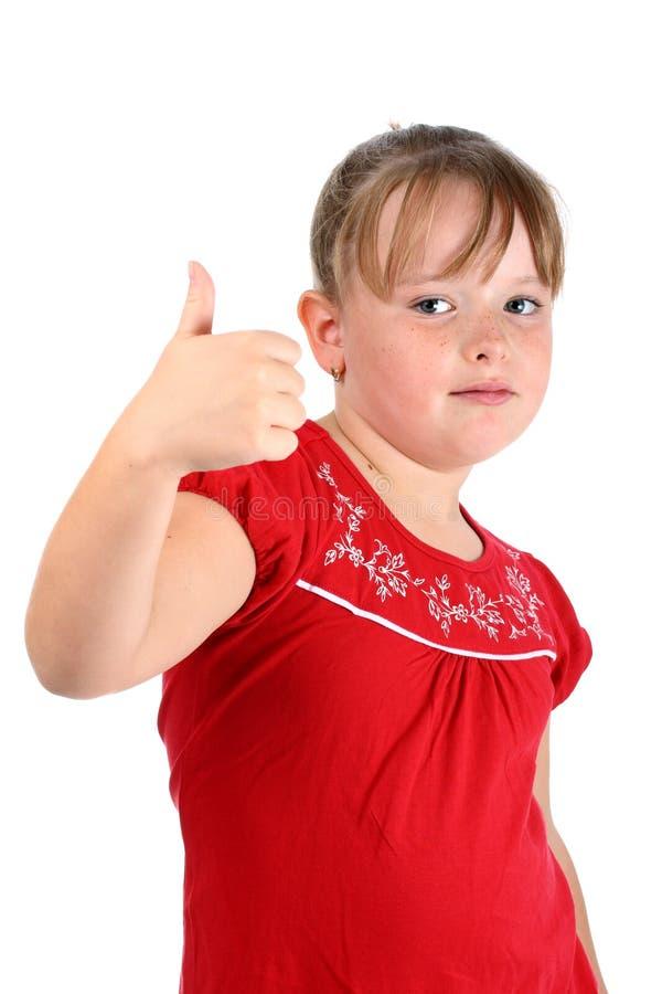 odizolowywająca gest dziewczyna pokazywać małą aprobatę fotografia stock
