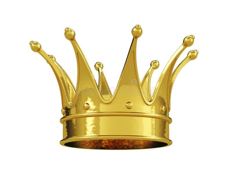 Odizolowywająca królewska złocista korona ilustracji