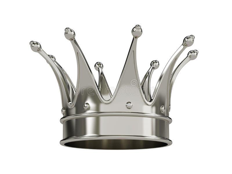 Odizolowywająca królewska złocista korona ilustracja wektor