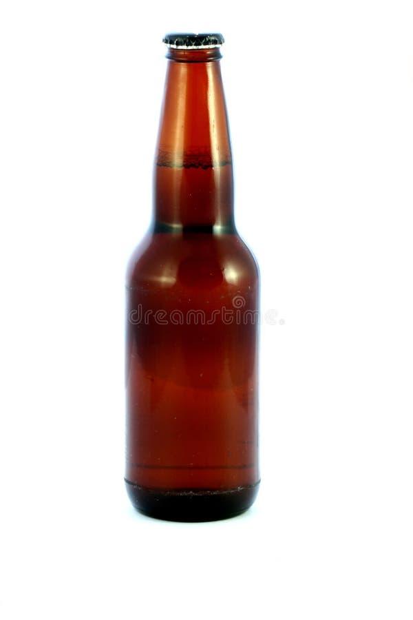 odizolowywająca piwna butelka zdjęcia royalty free