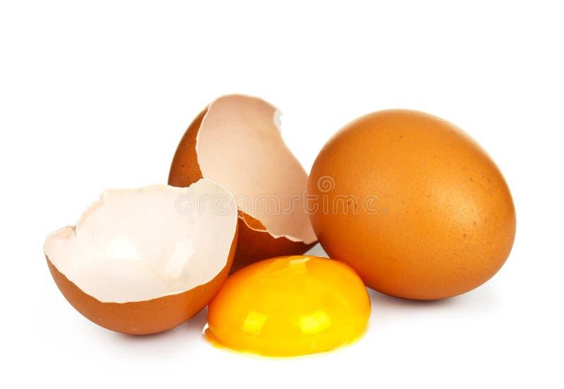 Odizolowywający łamany jajko obraz royalty free