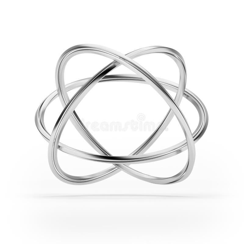 Odizolowywający atom oczodołowy model obraz royalty free