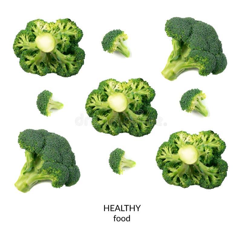 odizolowywający brokułów florets obrazy royalty free