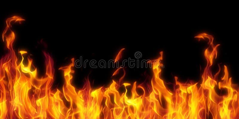 odizolowywający czarny ogień obrazy royalty free