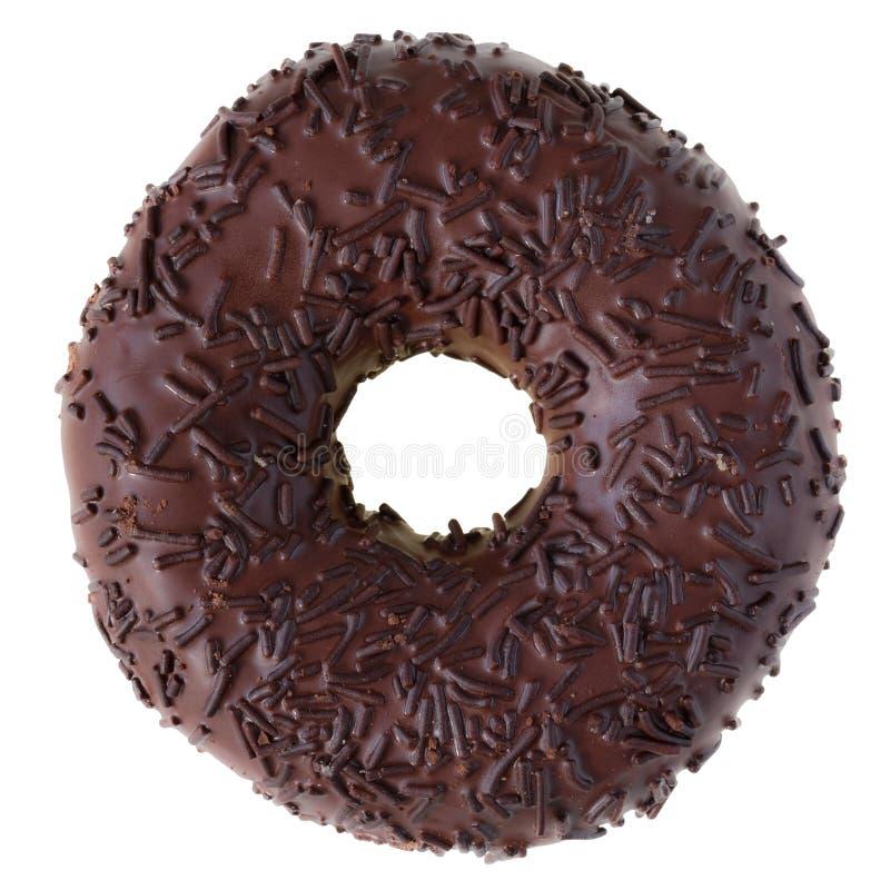 odizolowywający czekoladowy pączek obraz royalty free