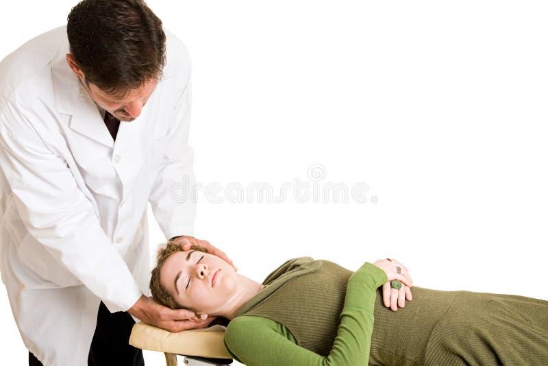 odizolowywający dostosowania chiropractic obrazy stock