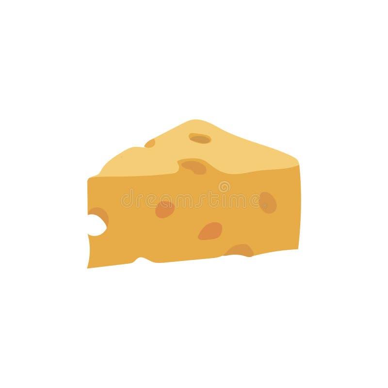 Odizolowywający kawałek ser ilustracji