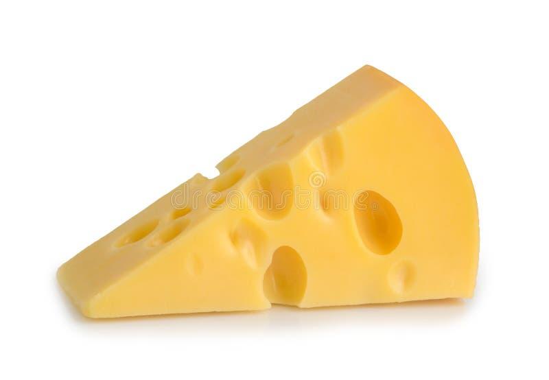 Odizolowywający kawałek ser obrazy royalty free