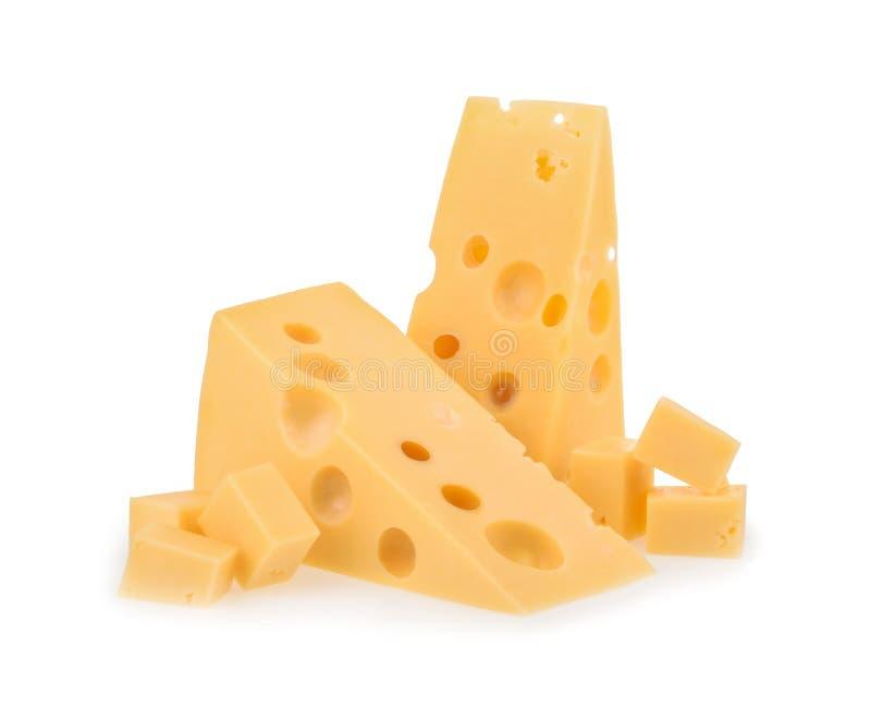 Odizolowywający kawałek ser zdjęcie royalty free