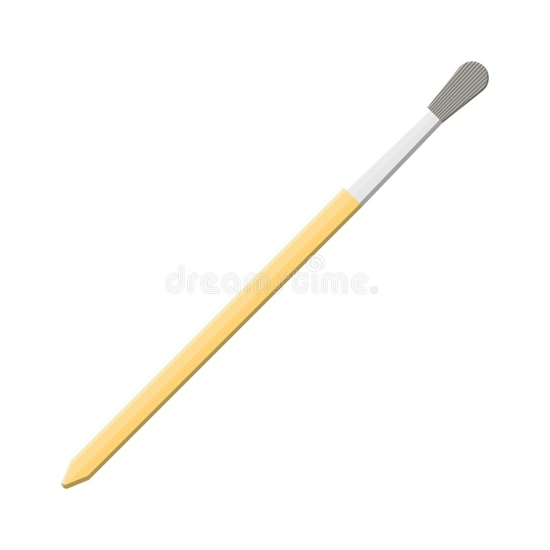 Odizolowywający na biel farby muśnięcie Artysty Paintbrush ilustracja wektor