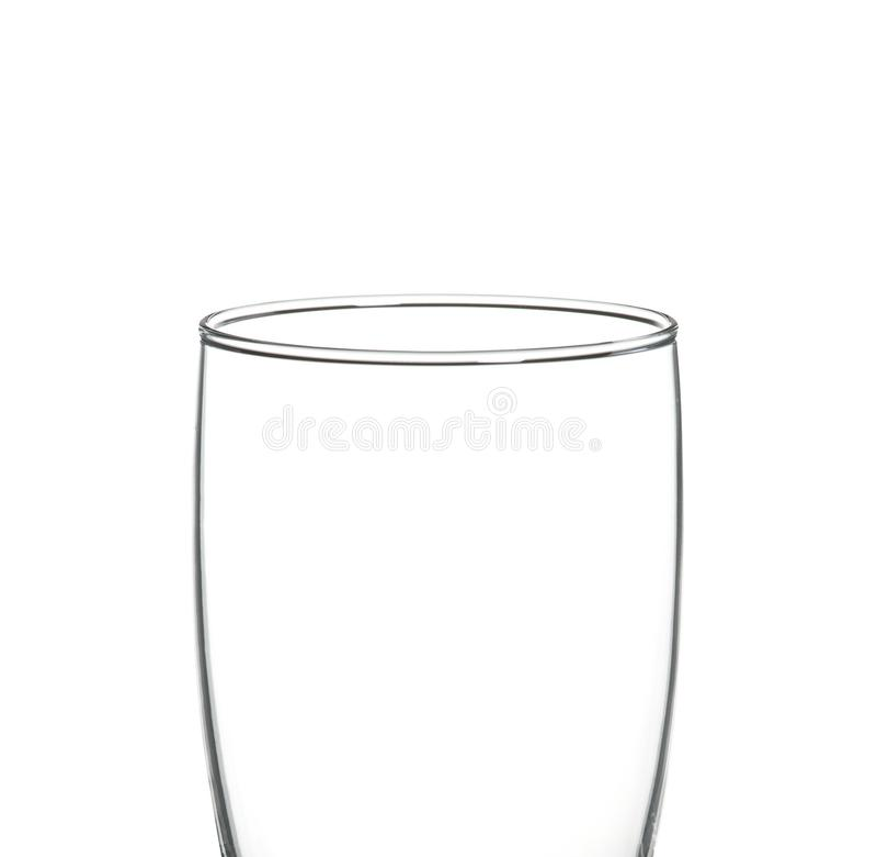 Odizolowywający na biel pusty szkło fotografia royalty free