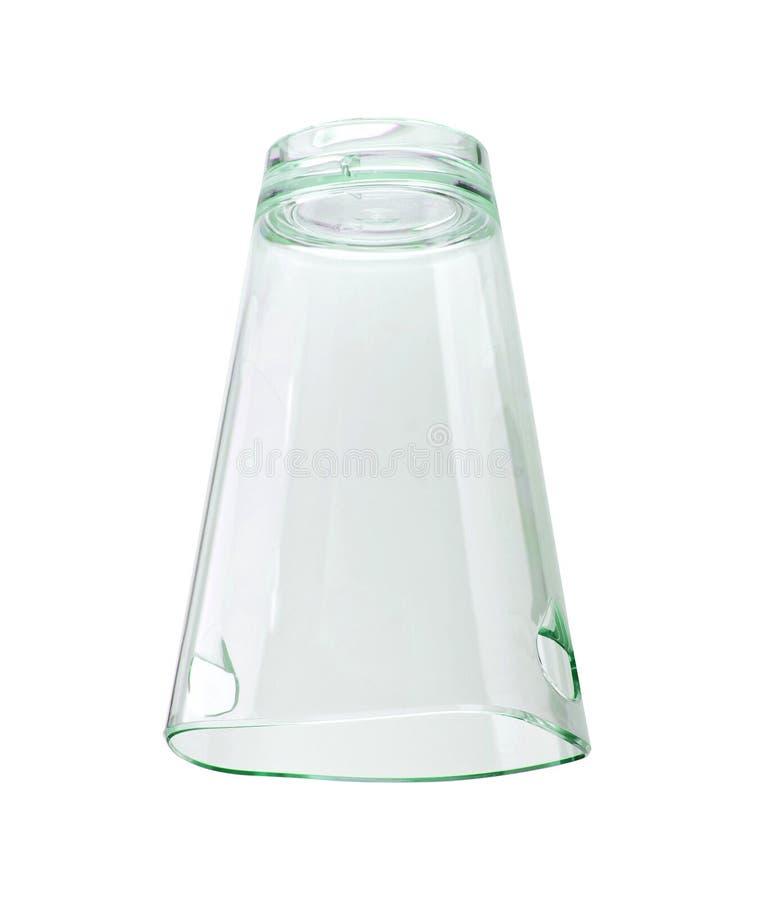 Odizolowywający na biel pusty szkło obrazy stock
