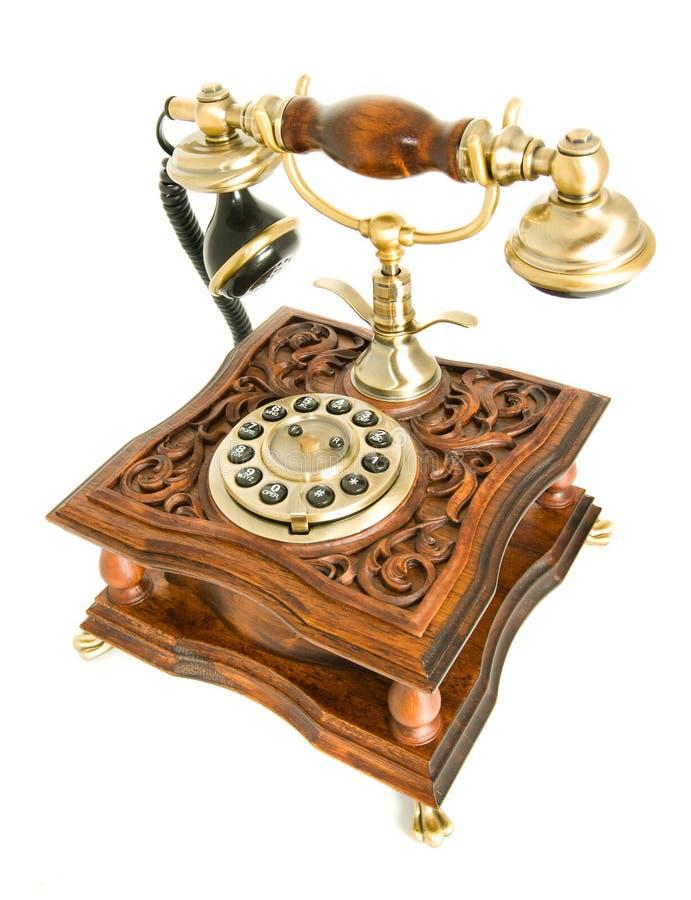 Odizolowywający nad biel antyka telefon zdjęcie royalty free