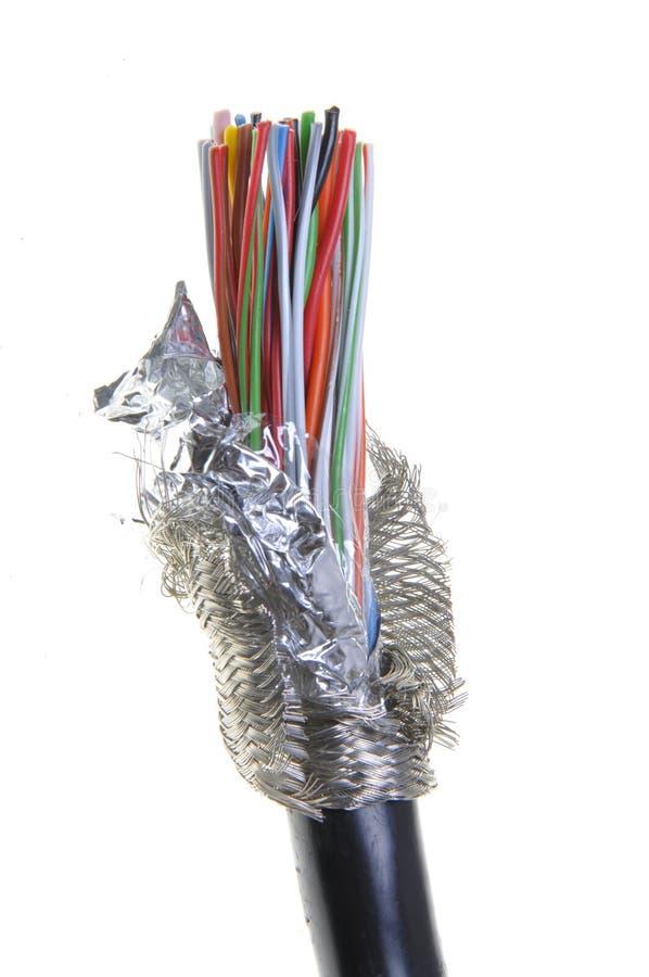 Odizolowywający ochroniony kabel zdjęcia stock