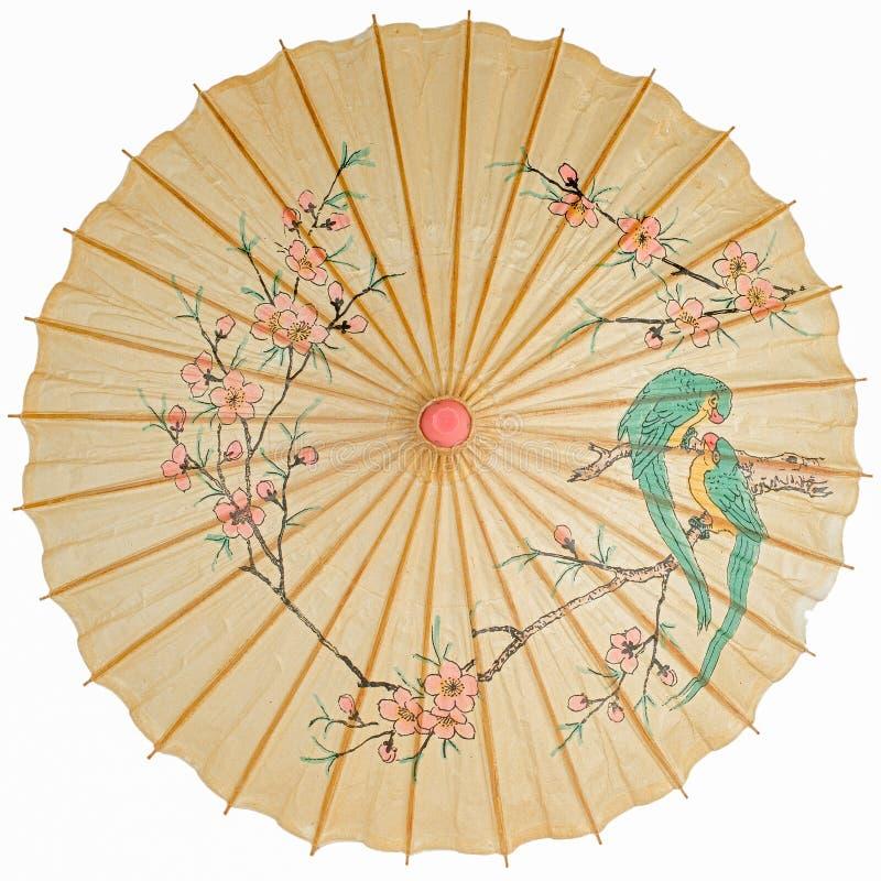 Odizolowywający orientalny parasol zdjęcia stock