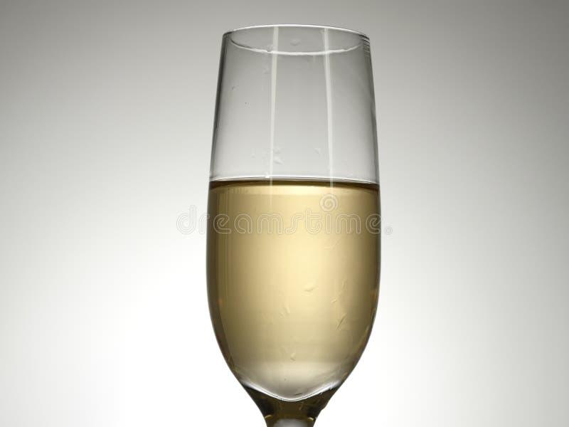 Odizolowywający szampański szkło zdjęcia stock