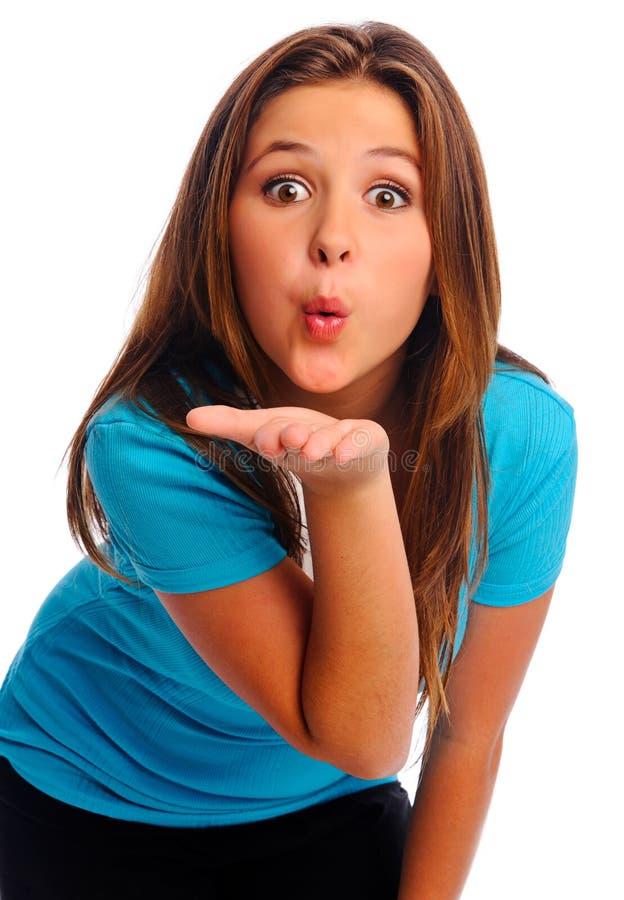 Odizolowywający walentynka buziak zdjęcia stock