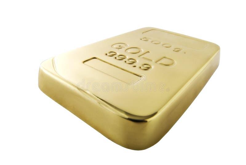 odizolowywający złocisty ingot obrazy stock