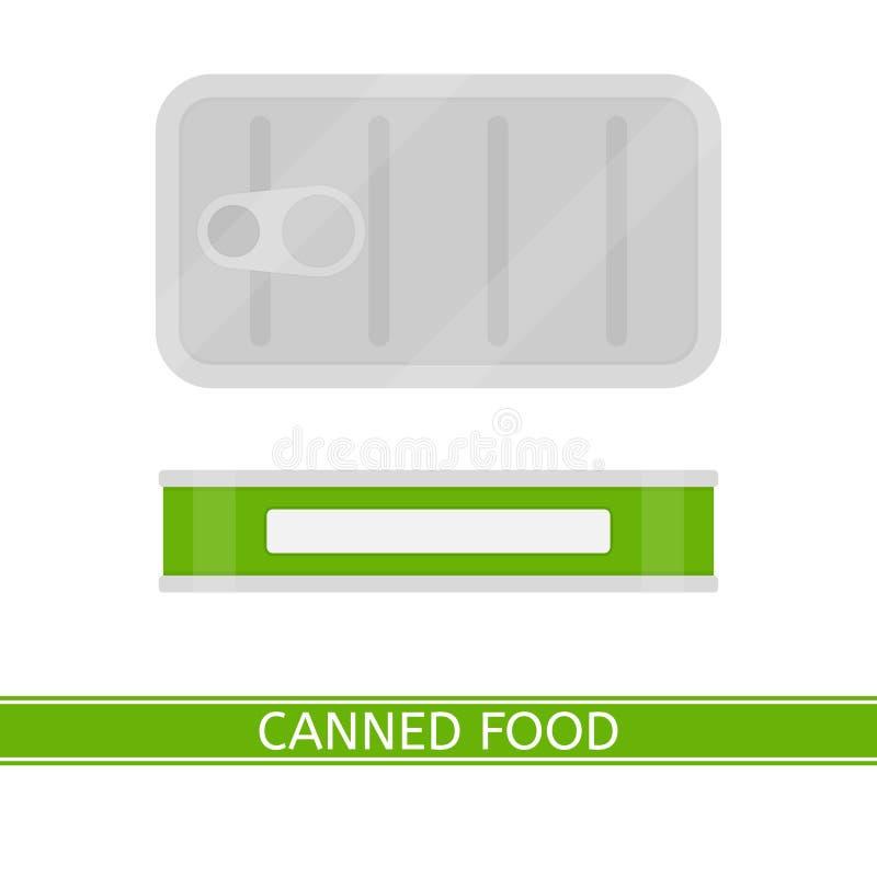 odizolowywający zakonserwowany jedzenie ilustracja wektor