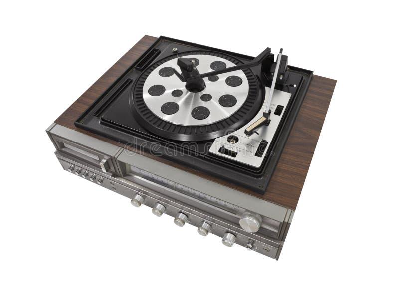 Odizolowywający Zwrota retro Stereo Stół zdjęcie royalty free