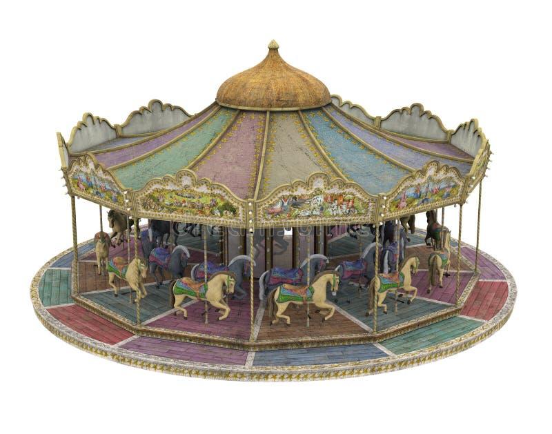 odizolowywaj?cy carousel ko? zdjęcia royalty free