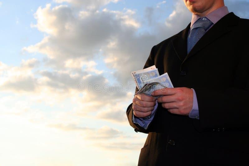 odjąć pieniądze obrazy stock