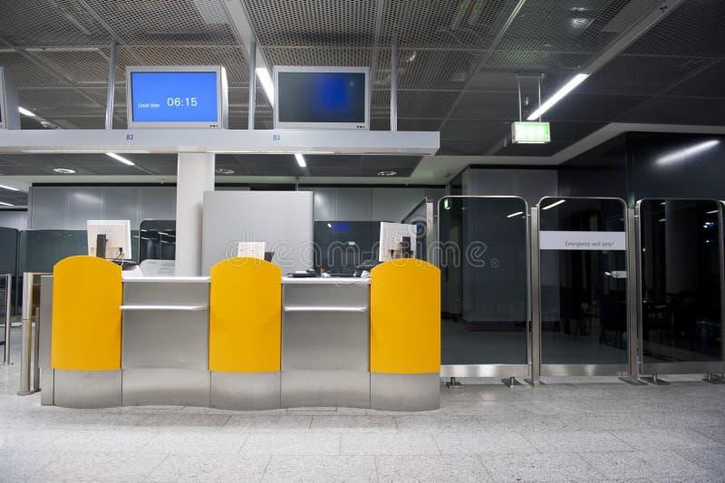 Odjazd lotniskowa brama fotografia royalty free