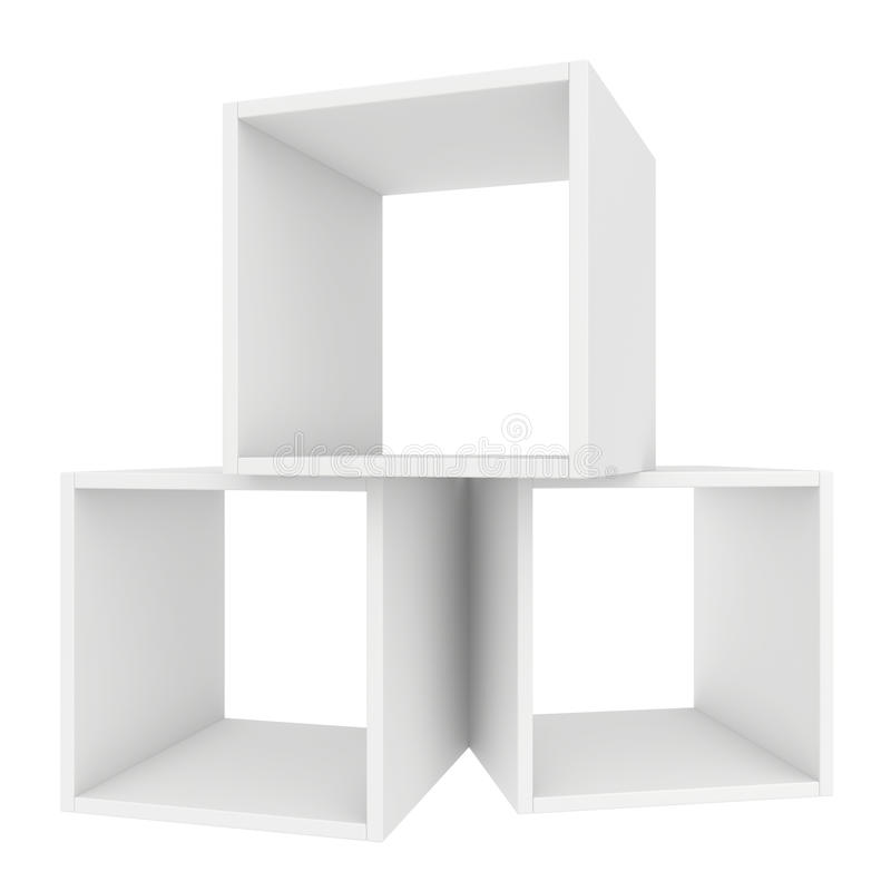 Odkłada biel 3d odpłacają się na białym tle ilustracja wektor