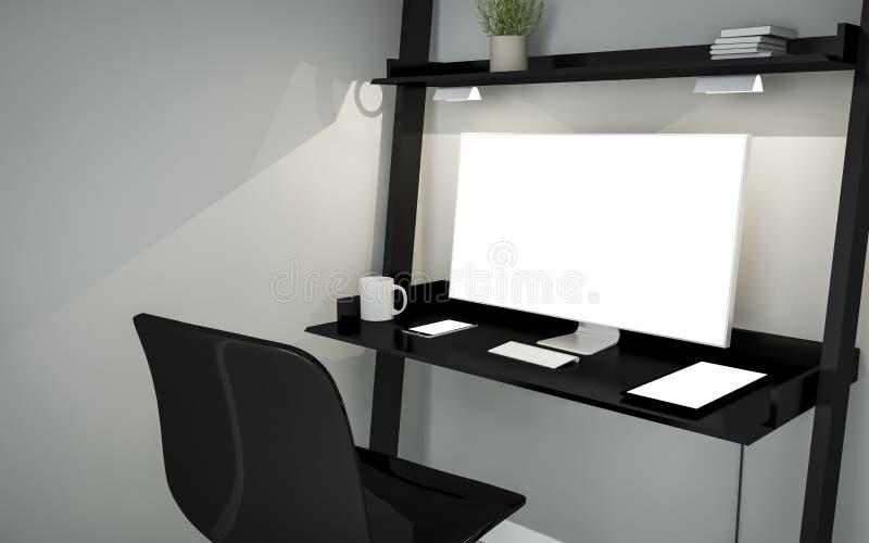 odkłada desktop minimalnego ustawianie ilustracja wektor