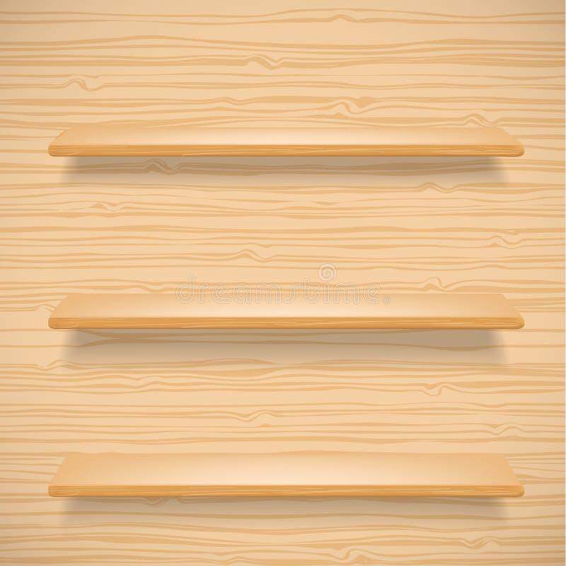 odkłada drewnianego ilustracja wektor