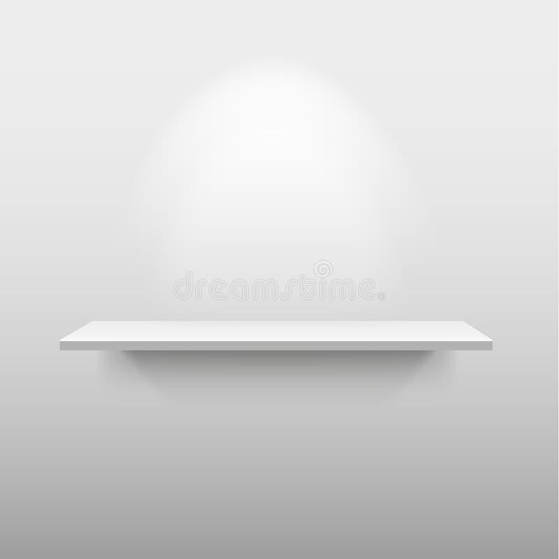 Odkłada z światłem i ocienia w pustym białym pokoju fotografia royalty free