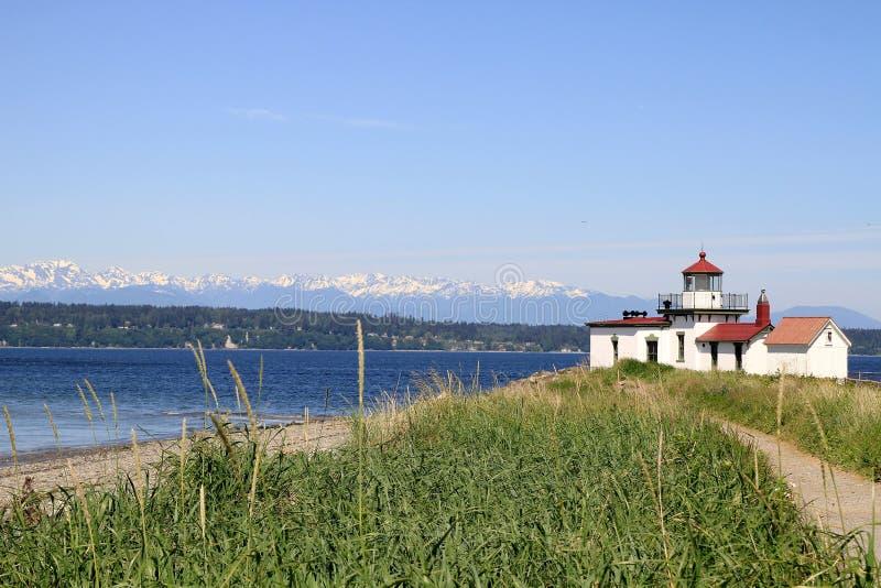 odkrycia latarni morskiej parka punkt Seattle zachodni zdjęcia royalty free