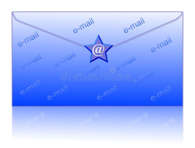 odkryj symbolu e - mail royalty ilustracja