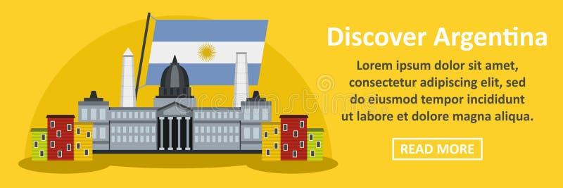 Odkrywa Argentina sztandaru horyzontalnego pojęcie ilustracji