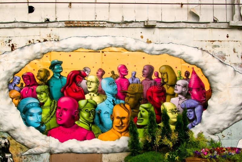 odla stads- festivalgrafitti fotografering för bildbyråer
