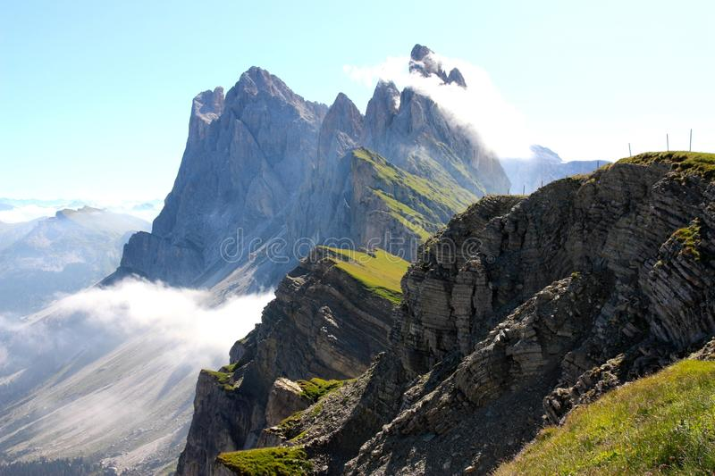 The odle mountains dolomites in italy stock image image for Best view of dolomites