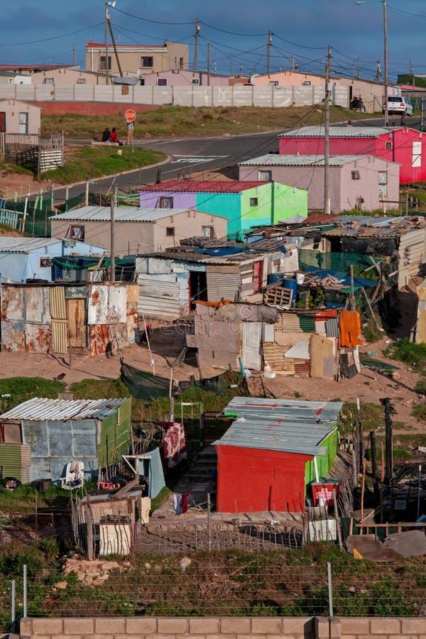 Afrykański szanty miasteczko fotografia stock